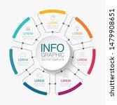vector circular infographic... | Shutterstock .eps vector #1479908651