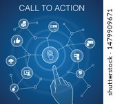 call to action concept  blue...