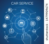 car service concept  blue... | Shutterstock .eps vector #1479909674