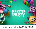 monster party background... | Shutterstock .eps vector #1479942737
