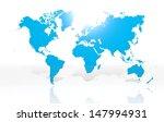 earth world map on white... | Shutterstock . vector #147994931