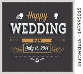 wedding invitation | Shutterstock .eps vector #147995015