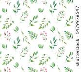 watercolor botanical seamless... | Shutterstock . vector #1479976547