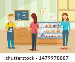 women choose cakes and buy... | Shutterstock .eps vector #1479978887
