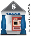 vector design of bank and atm... | Shutterstock .eps vector #148003934