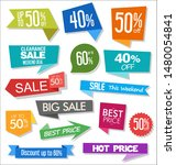 sale colorful badges and... | Shutterstock . vector #1480054841