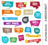 sale colorful badges and... | Shutterstock . vector #1480054847
