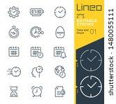 lineo editable stroke   time...   Shutterstock .eps vector #1480055111