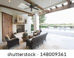 swimming pool with seating area ... | Shutterstock . vector #148009361