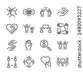 friendship and love line icons... | Shutterstock .eps vector #1480095227