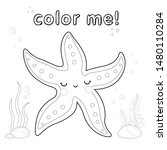 Outline Starfish. Coloring Page....