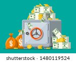 safe box front view. closed... | Shutterstock .eps vector #1480119524