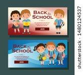 back to school banner... | Shutterstock .eps vector #1480124537