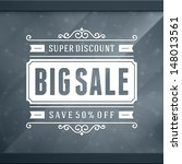 window advertising sale 50  off ... | Shutterstock .eps vector #148013561