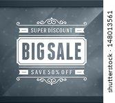 Stock vector window advertising sale off decals graphics vector design elements set discount sale sign 148013561