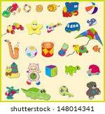set of baby's toys. vector... | Shutterstock .eps vector #148014341