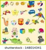 set of baby's toys. vector... | Shutterstock .eps vector #148014341