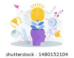 brain is like a tree growing in ... | Shutterstock .eps vector #1480152104