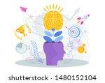 brain is like a tree growing in ...   Shutterstock .eps vector #1480152104