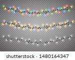 christmas lights. light bulb... | Shutterstock .eps vector #1480164347
