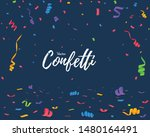 color confetti isolated on blue ... | Shutterstock .eps vector #1480164491