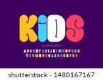 kids style font design ... | Shutterstock .eps vector #1480167167