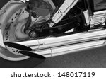 motorcycle parts on a background