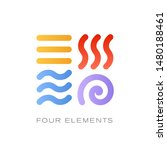 4 elements sign vector icons | Shutterstock .eps vector #1480188461