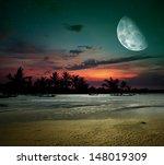 Tropical Night. Fishermen Go...