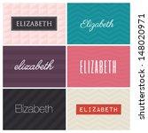 name elizabeth, graphic design elements