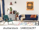 orange end table with fresh... | Shutterstock . vector #1480226297