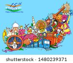 vector design of indian collage ... | Shutterstock .eps vector #1480239371