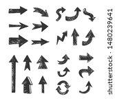 hand drawn arrows set. doodle...   Shutterstock .eps vector #1480239641