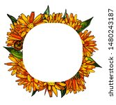 decorative frame made of...   Shutterstock .eps vector #1480243187