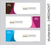 vector abstract banner design... | Shutterstock .eps vector #1480246247