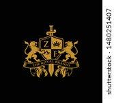 lion heraldry logo design... | Shutterstock .eps vector #1480251407
