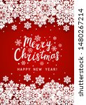 christmas greeting card with... | Shutterstock .eps vector #1480267214