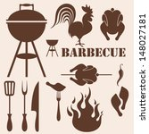 barbecue grill. vector... | Shutterstock .eps vector #148027181