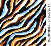Seamless Multicolor Zebra Print ...