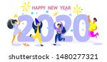 illustration for the new year... | Shutterstock .eps vector #1480277321