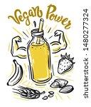 sketch illustration of eco juice | Shutterstock .eps vector #1480277324