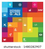 sustainable development goals   ... | Shutterstock .eps vector #1480282907