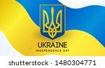 ukraine independence day card... | Shutterstock .eps vector #1480304771