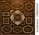 luxury  antique  frame ... | Shutterstock .eps vector #1480306547