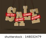 sale tags design | Shutterstock .eps vector #148032479