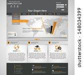 business website template | Shutterstock .eps vector #148034399