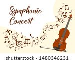 classical music violin concert... | Shutterstock .eps vector #1480346231