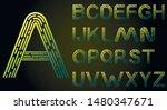 curly font 3d gradient green   Shutterstock .eps vector #1480347671