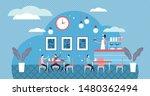 school cafe vector illustration.... | Shutterstock .eps vector #1480362494