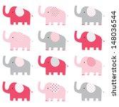 Cute Pink Elephant Pattern